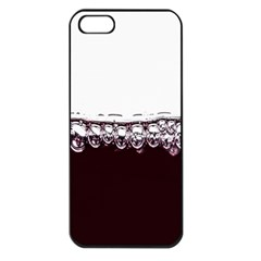 Bubbles In Red Wine Apple iPhone 5 Seamless Case (Black)
