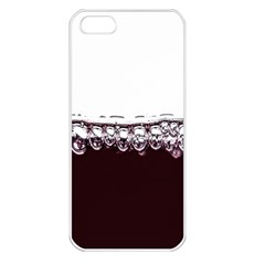 Bubbles In Red Wine Apple iPhone 5 Seamless Case (White)