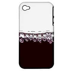 Bubbles In Red Wine Apple Iphone 4/4s Hardshell Case (pc+silicone)