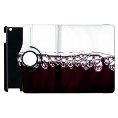 Bubbles In Red Wine Apple iPad 2 Flip 360 Case