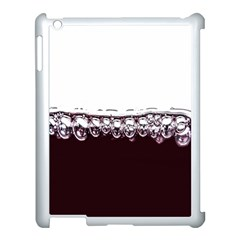 Bubbles In Red Wine Apple iPad 3/4 Case (White)