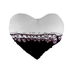Bubbles In Red Wine Standard 16  Premium Heart Shape Cushions