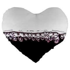 Bubbles In Red Wine Large 19  Premium Heart Shape Cushions