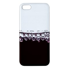 Bubbles In Red Wine Apple Iphone 5 Premium Hardshell Case