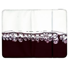 Bubbles In Red Wine Samsung Galaxy Tab 7  P1000 Flip Case