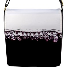 Bubbles In Red Wine Flap Messenger Bag (S)