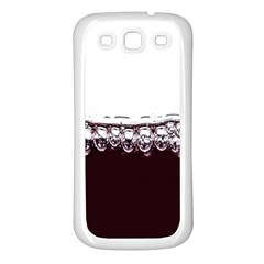 Bubbles In Red Wine Samsung Galaxy S3 Back Case (White)