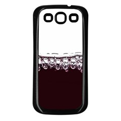 Bubbles In Red Wine Samsung Galaxy S3 Back Case (black)