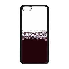 Bubbles In Red Wine Apple iPhone 5C Seamless Case (Black)