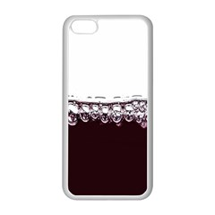 Bubbles In Red Wine Apple Iphone 5c Seamless Case (white)