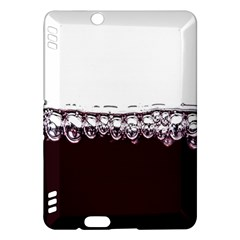 Bubbles In Red Wine Kindle Fire HDX Hardshell Case