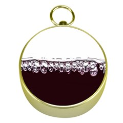 Bubbles In Red Wine Gold Compasses