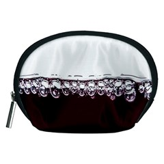 Bubbles In Red Wine Accessory Pouches (medium)
