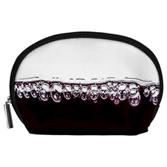 Bubbles In Red Wine Accessory Pouches (Large)