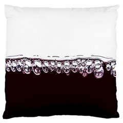 Bubbles In Red Wine Large Flano Cushion Case (One Side)