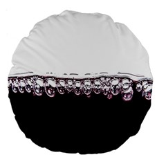 Bubbles In Red Wine Large 18  Premium Flano Round Cushions