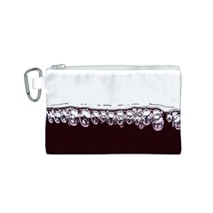 Bubbles In Red Wine Canvas Cosmetic Bag (S)