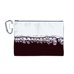 Bubbles In Red Wine Canvas Cosmetic Bag (M)