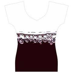 Bubbles In Red Wine Women s V-Neck Cap Sleeve Top