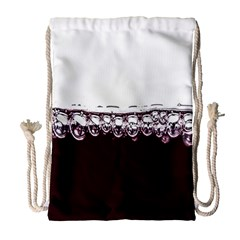Bubbles In Red Wine Drawstring Bag (Large)