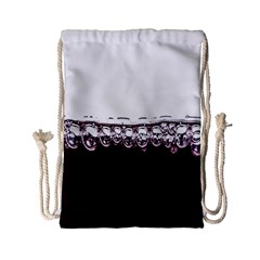 Bubbles In Red Wine Drawstring Bag (small)