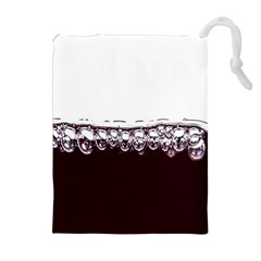 Bubbles In Red Wine Drawstring Pouches (Extra Large)