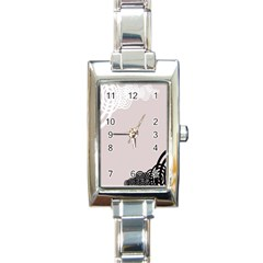 Circles Background Rectangle Italian Charm Watch