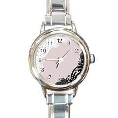 Circles Background Round Italian Charm Watch