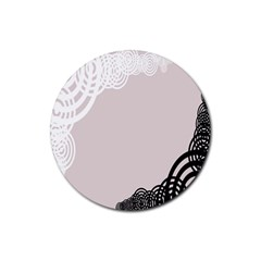 Circles Background Rubber Coaster (Round)