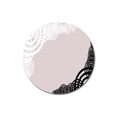 Circles Background Magnet 3  (round)