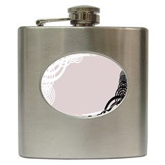 Circles Background Hip Flask (6 oz)