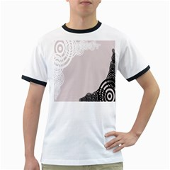 Circles Background Ringer T-Shirts