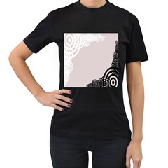 Circles Background Women s T-Shirt (Black) (Two Sided)