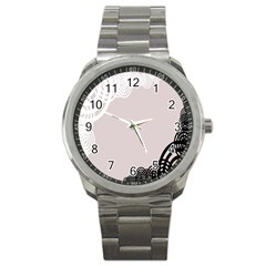 Circles Background Sport Metal Watch