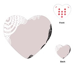 Circles Background Playing Cards (heart)