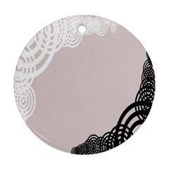 Circles Background Round Ornament (two Sides)