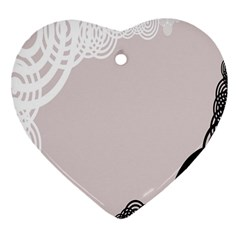 Circles Background Heart Ornament (two Sides)