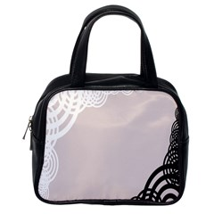 Circles Background Classic Handbags (one Side)