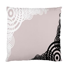 Circles Background Standard Cushion Case (One Side)