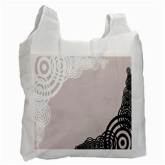 Circles Background Recycle Bag (Two Side)