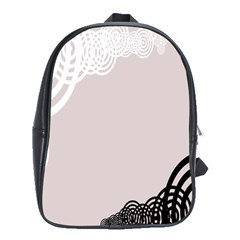 Circles Background School Bags(Large)