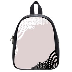 Circles Background School Bags (small)