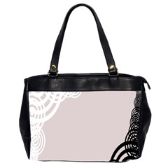 Circles Background Office Handbags (2 Sides)
