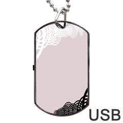 Circles Background Dog Tag USB Flash (Two Sides)