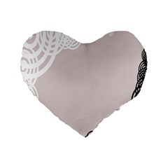 Circles Background Standard 16  Premium Heart Shape Cushions