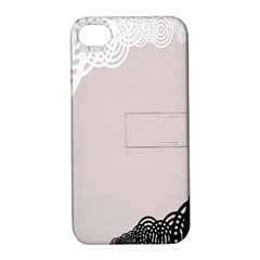 Circles Background Apple Iphone 4/4s Hardshell Case With Stand
