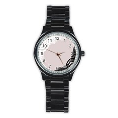 Circles Background Stainless Steel Round Watch