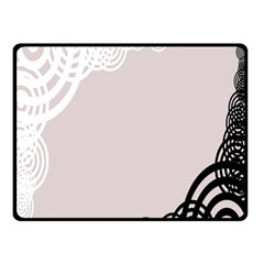 Circles Background Double Sided Fleece Blanket (Small)