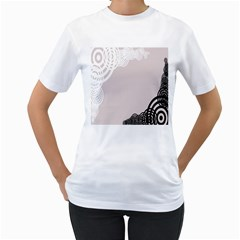 Circles Background Women s T-Shirt (White)