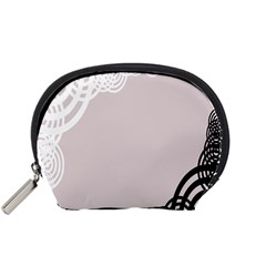 Circles Background Accessory Pouches (small)